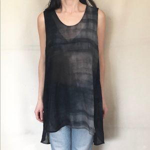 Eileen Fisher Sheer Silk Sheath Tank